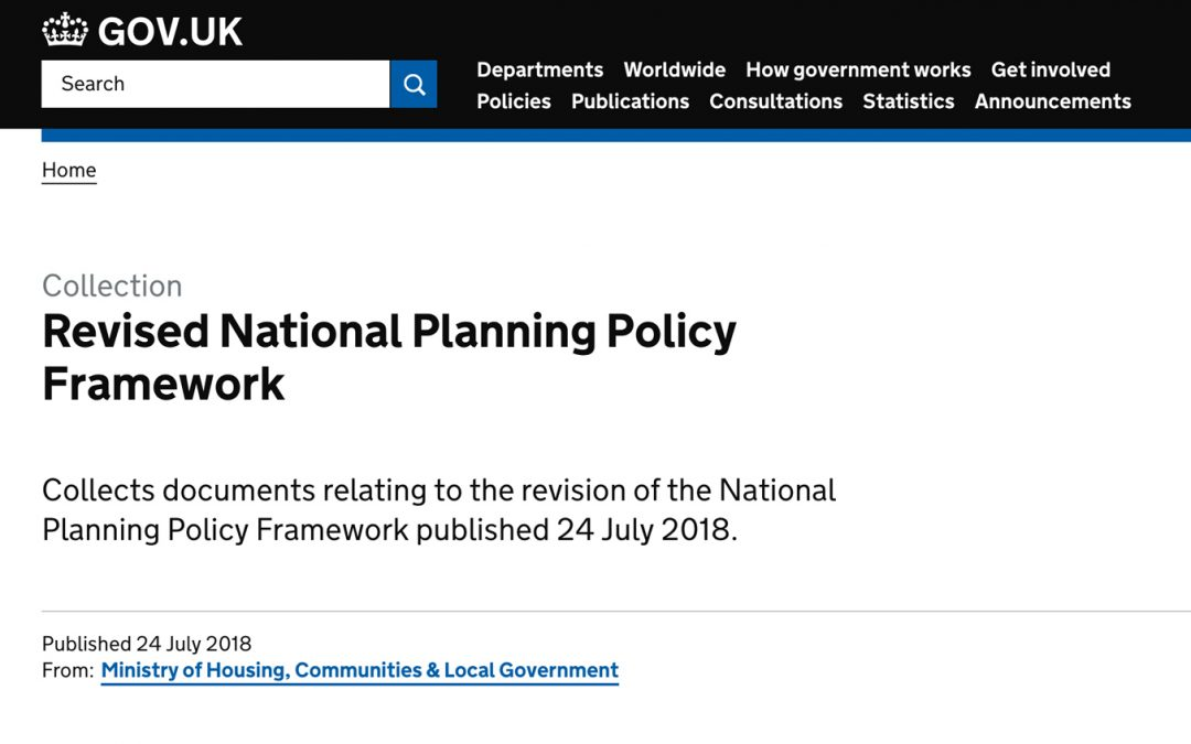 2018 National Planning Policy Framework